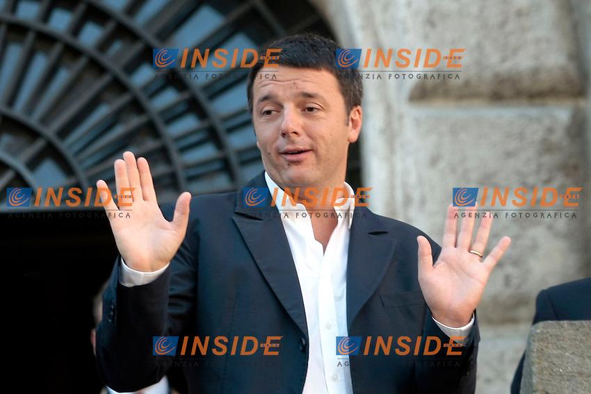 Matteo Renzi <br /> Roma 04/09/2013 Campidoglio. Incontro tra il sindaco di Roma ed il sindaco di Firenze che si recano a visitare i Fori Imperiali.<br /> Rome's Mayor and Florence Mayor visit the Fori Imperiali<br /> Photo Samantha Zucchi Insidefoto