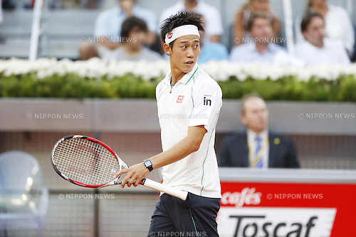 Kei Nishikori (JPN), MAY 11, 2014 - Tennis : Kei Nishikori of Japan during the men's singles final match of the Mutua Madrid Open tennis tournament at the La Caja Magica in Madrid, Spain, May 11, 2014. (Photo by AFLO)