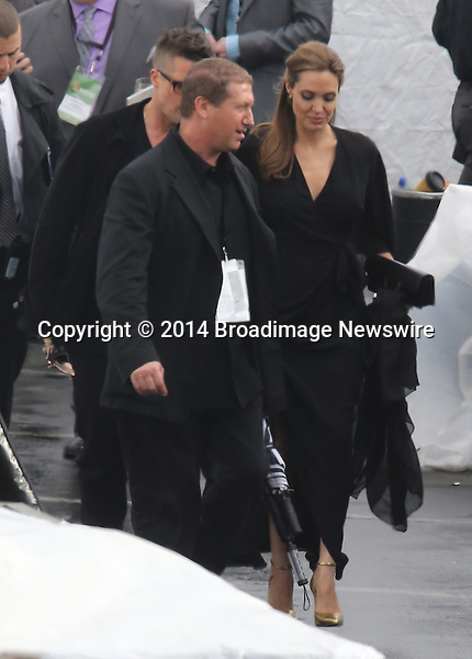 Pictured: Brad Pitt and Angelina Jolie<br /> Mandatory Credit &copy; Fernando Allende/Adriano Camolese/Broadimage<br /> Brad Pitt and Angelina Jolie signing authographs at the 2014 Independent Spirit Awards<br /> <br /> 3/1/14, Santa Monica, California, United States of America<br /> Reference: 030114_FALA_BDG_043<br /> <br /> Broadimage Newswire<br /> Los Angeles 1+  (310) 301-1027<br /> New York      1+  (646) 827-9134<br /> sales@broadimage.com<br /> http://www.broadimage.com