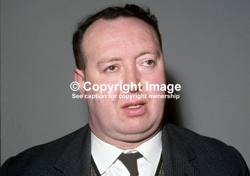 Paddy Devlin, chairman, N Ireland Labour Party, MP, N Ireland Parliament, Stormont, 196901000004PD1.<br />