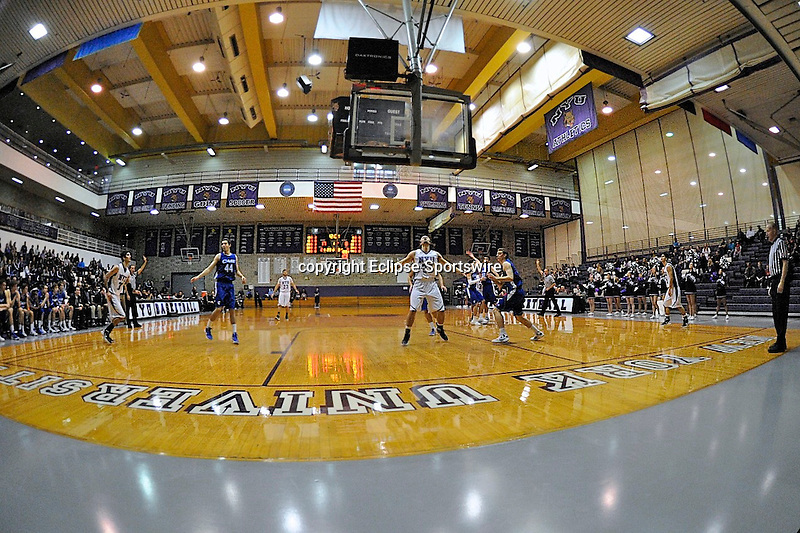 Game action from the NYU's 89-80 victory over Case Western Reserve on January 29, 2012 at Jerome S. Coles Sports Center in New York, New York.  (Bob Mayberger/Eclipse Sportswire)