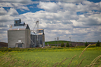 A grain elevator in the Palouse. The Palouse Is a region of where there are no continuous valleys, and the hills do not connect to make long ridges. These hills were not created by rivers and streams, as is most of our landscape, but formed more like sandunes, with winds depositing silt to form of some of the most fertile soil in the country.