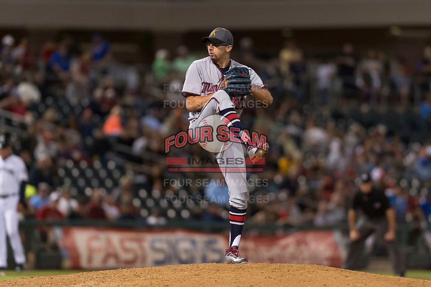 AFL East relief pitcher Devin Smeltzer (41), of the Salt River Rafters and the Minnesota Twins organization, delivers a pitch during the Arizona Fall League Fall Stars game at Surprise Stadium on November 3, 2018 in Surprise, Arizona. The AFL West defeated the AFL East 7-6 . (Zachary Lucy/Four Seam Images)