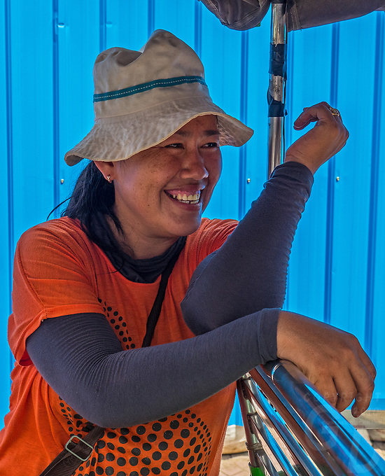 Portraits of people in the streets of Phnom Penh, Cambodia