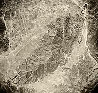 historical aerial photograph Burbank, CA