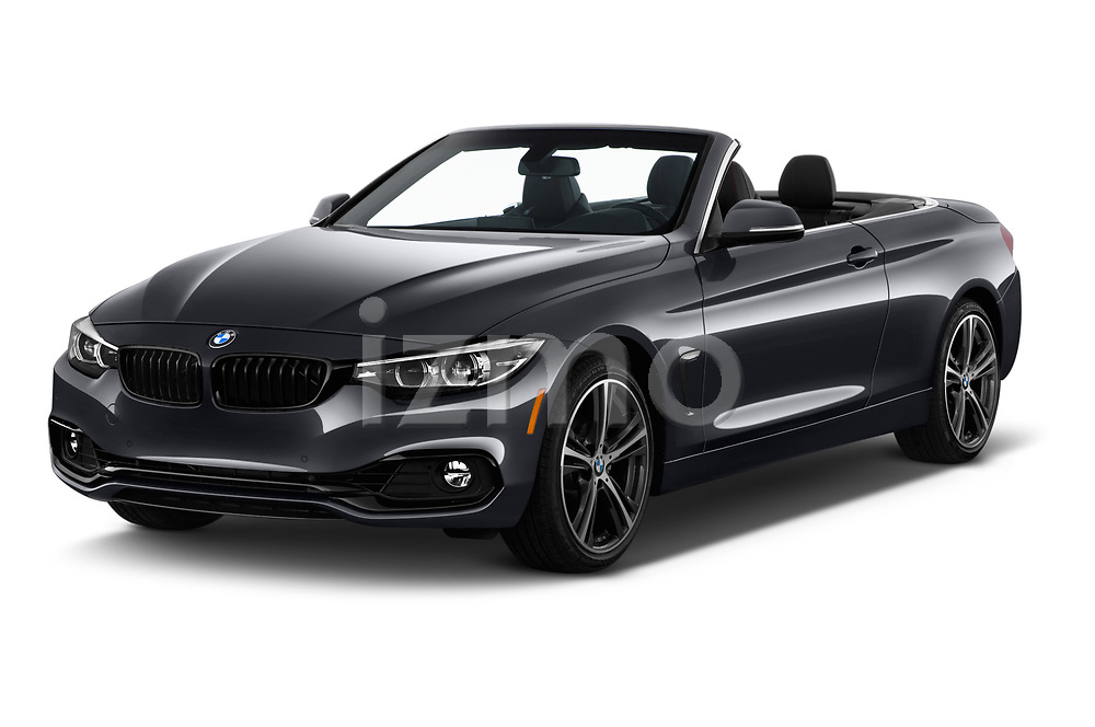 2018 BMW 4 Series 430i 2 Door Convertible angular front stock photos of front three quarter view