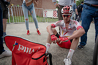 race winner Kenneth Vanbilsen (BEL/Cofidis) post-finish<br /> <br /> Dwars door het Hageland 2019 (1.1)<br /> 1 day race from Aarschot to Diest (BEL/204km)<br /> <br /> ©kramon