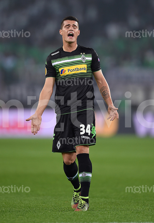 FUSSBALL   INTERNATIONAL   UEFA EUROPA LEAGUE   SAISON 2014/2015 FC Zuerich - VfL Borussia Moenchengladbach    02.10.2014 Granit Xhaka (Borussia Moenchengladbach)