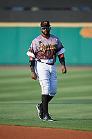 Rochester Red Wings Kennys Vargas (30) before a game against the Lehigh Valley IronPigs on June 29, 2018 at Frontier Field in Rochester, New York.  Lehigh Valley defeated Rochester 2-1.  (Mike Janes/Four Seam Images)