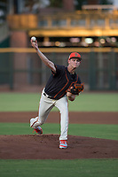 AZL Giants Black starting pitcher Conner Nurse (31) delivers a pitch during an Arizona League game against the AZL Royals at Scottsdale Stadium on August 7, 2018 in Scottsdale, Arizona. The AZL Giants Black defeated the AZL Royals by a score of 2-1. (Zachary Lucy/Four Seam Images)