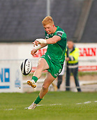 9th September 2017, Galway Sportsground, Galway, Ireland; Guinness Pro14 Rugby, Connacht versus Southern Kings; Darragh Leader plays the ball down the line for Connacht