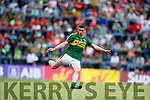 Barry Mahony Kerry in action against  Clare in the Munster Minor Football Final at Fitzgerald Stadium on Sunday.