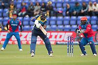 Kusal Perera (Sri Lanka) cuts to point during Afghanistan vs Sri Lanka, ICC World Cup Cricket at Sophia Gardens Cardiff on 4th June 2019