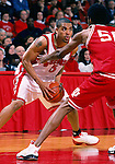 University of Wisconsin guard (5) Maurice Linton during the Indiana University game at the Kohl Center on 1/4/01 in Madison, WI.  The Badgers beat Indiana in the Big Ten opener 49-46. (Photo by David Stluka)