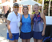DELRAY BEACH, FL - NOVEMBER 03: Martina Navratilova, Chris Evert, Maeve Quinlan attend the Chris Evert/Raymond James Pro-Celebrity Tennis Classic at the Delray Beach Tennis Center on November 3, 2017 in Delray Beach Florida. <br /> CAP/MPI04<br /> &copy;MPI04/Capital Pictures
