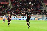 Der Leverkusener Sven Bender Kopfball beim Spiel in der Fussball Bundesliga, 1. FSV Mainz 05 - Bayer 04 Leverkusen (dunkel).<br /> <br /> Foto &copy; PIX-Sportfotos *** Foto ist honorarpflichtig! *** Auf Anfrage in hoeherer Qualitaet/Aufloesung. Belegexemplar erbeten. Veroeffentlichung ausschliesslich fuer journalistisch-publizistische Zwecke. For editorial use only. DFL regulations prohibit any use of photographs as image sequences and/or quasi-video.