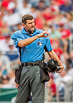 29 June 2017: Major League Baseball Umpire Chad Fairchild officiates at home plate during a game between the Chicago Cubs and the Washington Nationals at Nationals Park in Washington, DC. The Cubs rallied against the Nationals to win 5-4 and split their 4-game series. Mandatory Credit: Ed Wolfstein Photo *** RAW (NEF) Image File Available ***