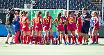 BREDA - team Spanje  tijdens Spanje-China bij de 4 Nations Trophy dames 2018 .  COPYRIGHT  KOEN SUYK