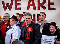 Sir Keir Starmer KCB, QC (British barrister; he was the Director of Public Prosecutions and the Head of the Crown Prosecution Service from 2008 to 2013; Labour MP Candidate for Holborn and St Pancras).<br /> <br /> London, 18/04/2015. Today, a protest was held against the closure of the historic &quot;The Black Cap&quot; pub in Camden.<br /> <br /> &quot;Stickers, Posters, Banners, Russell Brand, Occupy Statues, Class War&hellip; An Invisible Electoral Campaign&quot;.<br /> <br /> For more pictures and info about this event please click here: http://bit.ly/1H71ECg
