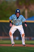 Maine Black Bears shortstop Shane Bussey (9) during a game against the Ball State Cardinals on March 3, 2015 at North Charlotte Regional Park in Port Charlotte, Florida.  Ball State defeated Maine 8-7.  (Mike Janes/Four Seam Images)