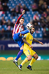 Jose Maria Gimenez de Vargas of Atletico de Madrid battles for the ball with Marko Livaja of UD Las Palmas during their Copa del Rey 2016-17 Round of 16 match between Atletico de Madrid and UD Las Palmas at the Vicente Calderón Stadium on 10 January 2017 in Madrid, Spain. Photo by Diego Gonzalez Souto / Power Sport Images