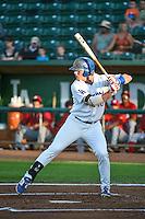 Matt Jones (40) of the Ogden Raptors at bat against the Orem Owlz in Pioneer League action at Lindquist Field on August 28, 2015 in Ogden, Utah. Ogden defeated Orem 14-6. (Stephen Smith/Four Seam Images)