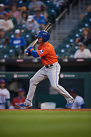 Syracuse Mets Danny Espinosa (18) at bat during an International League game against the Buffalo Bisons on June 29, 2019 at Sahlen Field in Buffalo, New York.  Buffalo defeated Syracuse 9-3.  (Mike Janes/Four Seam Images)