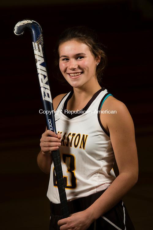 MILFORD, CT- 20 November 2015-112015EC06-  Nicole Schaefer is a senior on the Thomaston field hockey team. Erin Covey Republican-American