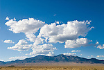 Clouds over the Snake Range of Nevada, summer