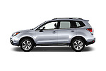 Car Driver side profile view of a 2017 Subaru Forester 2.5i-Limited-CVT 5 Door SUV Side View