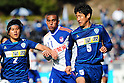(R-L) Makoto Tanaka (Avispa), Bruno Lopes (Albirex), Kim Min-Jae (Avispa), MARCH 5, 2011 - Football : 2011 J.League Division 1 match between Avispa Fukuoka 0-3 Albirex Niigata at Level 5 Stadium in Fukuoka, Japan. (Photo by AFLO)