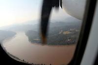 View of the Mekong from the flight Luang Prabang Vientiane-Luang Prabang, Laos-2010