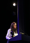 Julie Taymor  on stage at the Stage Directors and Choreographers Foundation event honoring Julie Taymor with the Mr. Abbott Award at the Bohemian National Hall on April 2, 2018 in New York City.