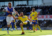 Ipswich Town's Luke Chambers battles with Birmingham City's Gary Gardner<br /> <br /> Photographer Hannah Fountain/CameraSport<br /> <br /> The EFL Sky Bet Championship - Ipswich Town v Birmingham City - Saturday 13th April 2019 - Portman Road - Ipswich<br /> <br /> World Copyright © 2019 CameraSport. All rights reserved. 43 Linden Ave. Countesthorpe. Leicester. England. LE8 5PG - Tel: +44 (0) 116 277 4147 - admin@camerasport.com - www.camerasport.com