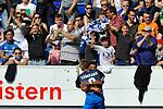 Torjubel zum 1:0 von Hoffenheims Pavel Kaderabek (Nr.3) und dem Torschuetzen Hoffenheims Serge Gnabry (Nr.29)  beim Spiel in der Fussball Bundesliga, TSG 1899 Hoffenheim - Hamburger SV.<br /> <br /> Foto &copy; PIX-Sportfotos *** Foto ist honorarpflichtig! *** Auf Anfrage in hoeherer Qualitaet/Aufloesung. Belegexemplar erbeten. Veroeffentlichung ausschliesslich fuer journalistisch-publizistische Zwecke. For editorial use only.