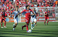 Chicago midfielder Rafael Robayo (88) speeds down the field.  The LA Galaxy defeated the Chicago Fire 2-0 at Toyota Park in Bridgeview, IL on July 8, 2012.