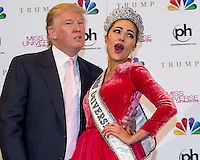 LAS VEGAS, NV - December 19 : Donald Trump and Miss Universe 2012 Olivia Culpo pictured after the Miss Universe 2012 finals at Planet Hollywod Resort on ecember 19, 2012 in Las Vegas, Nevada. Credit: Kabik/Starlitepics/MediaPunch Inc. /NortePhoto