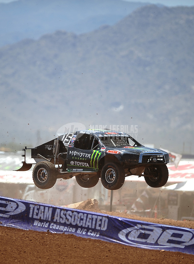 Apr 15, 2011; Surprise, AZ USA; LOORRS driver Marty Hart (15) during round 3 and 4 at Speedworld Off Road Park. Mandatory Credit: Mark J. Rebilas-.