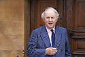 Alexander McCall Smith ,writer at Oxford Literary Festival  at Christchurch College, Oxford  2014 CREDIT Geraint Lewis