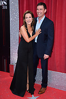 Elisabeth Dermot Walsh and Michael Chambers<br /> arriving for the British Soap Awards 2018 at the Hackney Empire, London<br /> <br /> ©Ash Knotek  D3405  02/06/2018