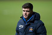 6th February 2019, Dens Park, Dundee, Scotland; Ladbrokes Premiership football, Dundee versus Kilmarnock; Daniel Higgins of Kilmarnock inspects the pitch before the match