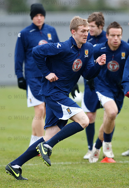 Darren Fletcher training for Scotland