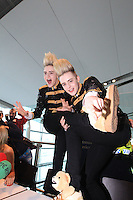 15/5/11 Jedward arrive home at T2 Dublin Airport after finishing in 8th place at the Eurovision Song Contest in Dusseldorf, Germany. Picture:Arthur Carron/Collins