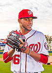28 February 2016: Washington Nationals pitcher Wander Suero poses for his Spring Training Photo-Day portrait at Space Coast Stadium in Viera, Florida. Mandatory Credit: Ed Wolfstein Photo *** RAW (NEF) Image File Available ***