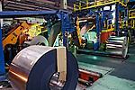 Produção de aço na Companhia Siderúrgica Nacional. CSN, Volta Redonda, Rio de Janeiro. 1998. Foto de Ricardo Azoury.