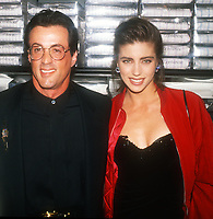 Sylvester Stallone Jennifer Flavin<br /> 1990<br /> Photo By John Barrett/CelebrityArchaeology.com