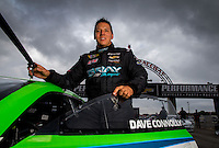 Aug 31, 2014; Clermont, IN, USA; NHRA pro stock driver Dave Connolly during qualifying for the US Nationals at Lucas Oil Raceway. Mandatory Credit: Mark J. Rebilas-USA TODAY Sports