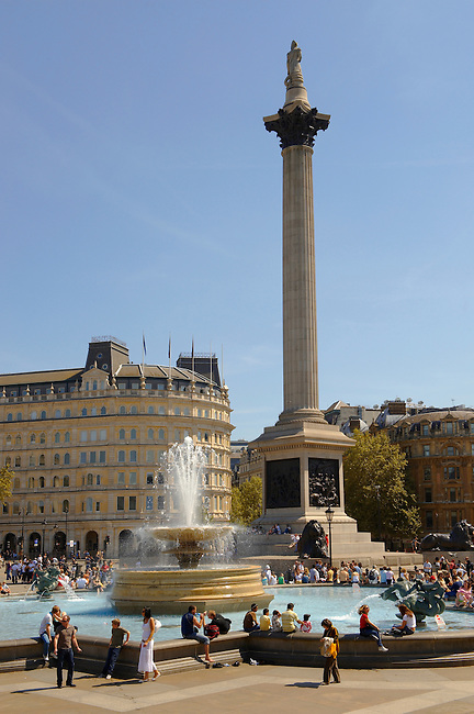 Nelson's Column Trafalgar Square London