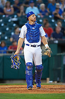 Buffalo Bisons catcher Erik Kratz (40) during a game against the Lehigh Valley IronPigs on August 29, 2016 at Coca-Cola Field in Buffalo, New York.  Buffalo defeated Lehigh Valley 3-2.  (Mike Janes/Four Seam Images)
