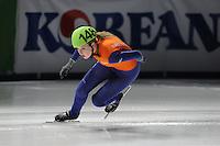 SCHAATSEN: DORDRECHT: Sportboulevard, Korean Air ISU World Cup Finale, 10-02-2012, Lara van Ruijven NED (148), ©foto: Martin de Jong